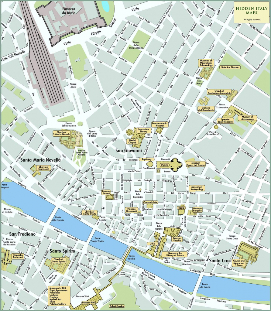 Large Florence Maps For Free Download And Print | High-Resolution pertaining to Printable Map Of Florence Italy