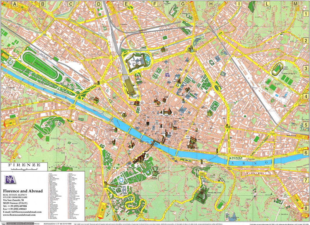Large Florence Maps For Free Download And Print | High-Resolution throughout Printable Walking Map Of Florence