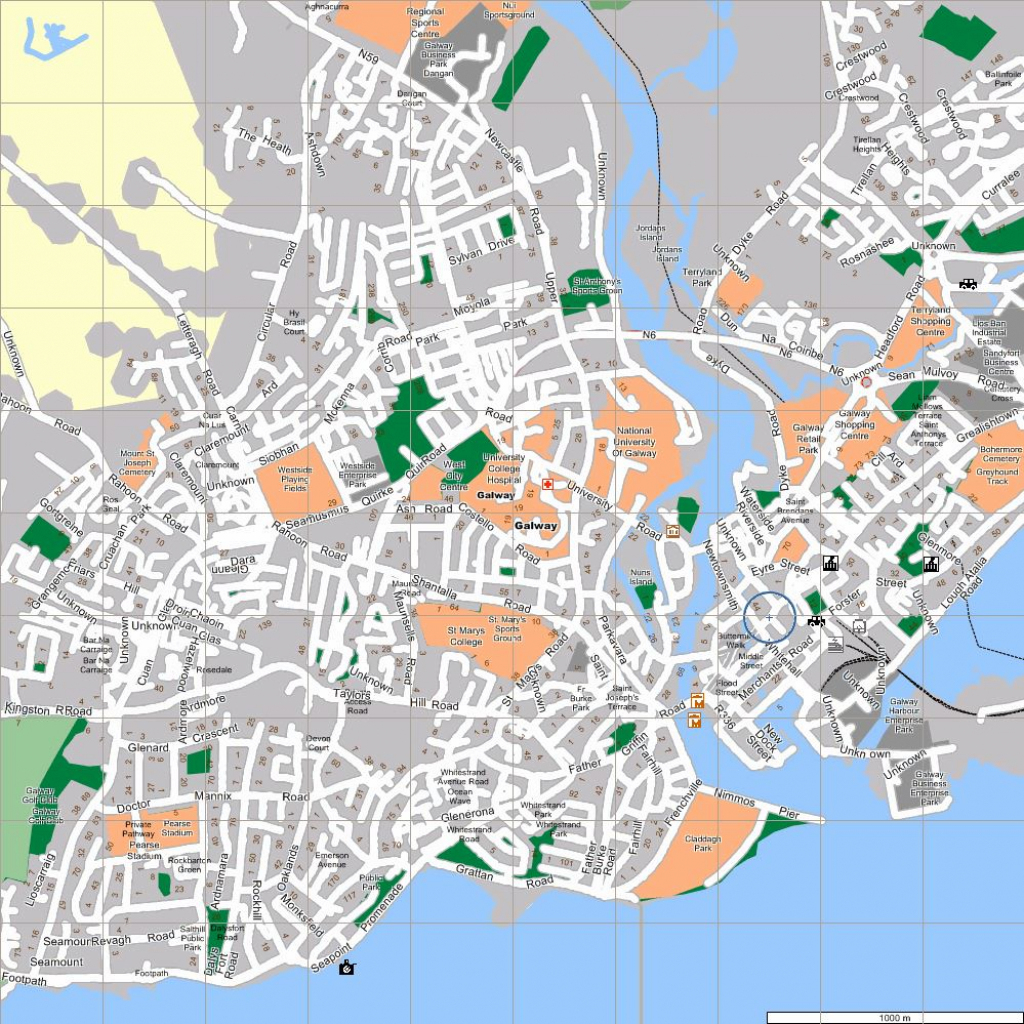 Large Galway Maps For Free Download And Print | High-Resolution And for Galway City Map Printable