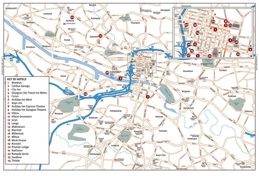 Large Glasgow Maps For Free Download And Print | High-Resolution And with regard to Glasgow City Map Printable