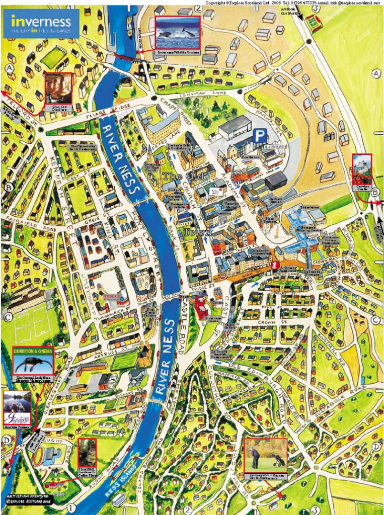 Large Inverness Maps For Free Download And Print | High-Resolution within Printable Street Map Of Harrogate Town Centre