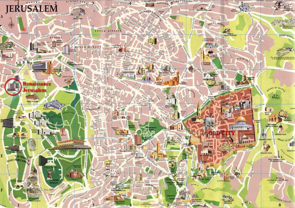 Large Jerusalem Maps For Free Download And Print | High-Resolution pertaining to Free Printable Aerial Maps