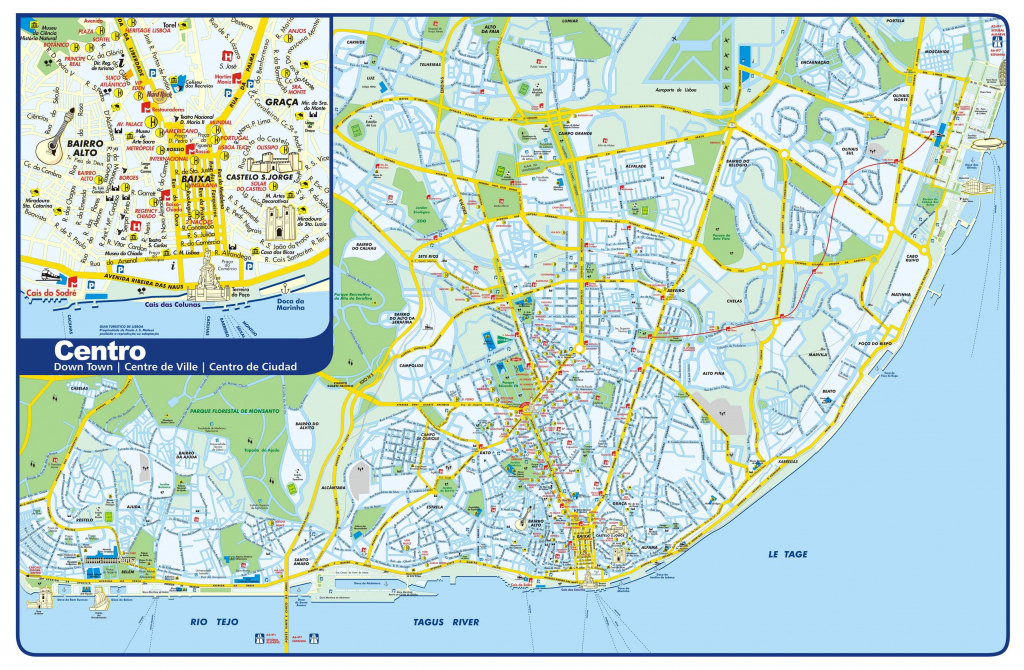 Large Lisbon Maps For Free Download And Print | High-Resolution And in Lisbon Tourist Map Printable
