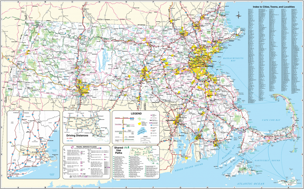 Large Massachusetts Maps For Free Download And Print | High with Printable Map Of Massachusetts