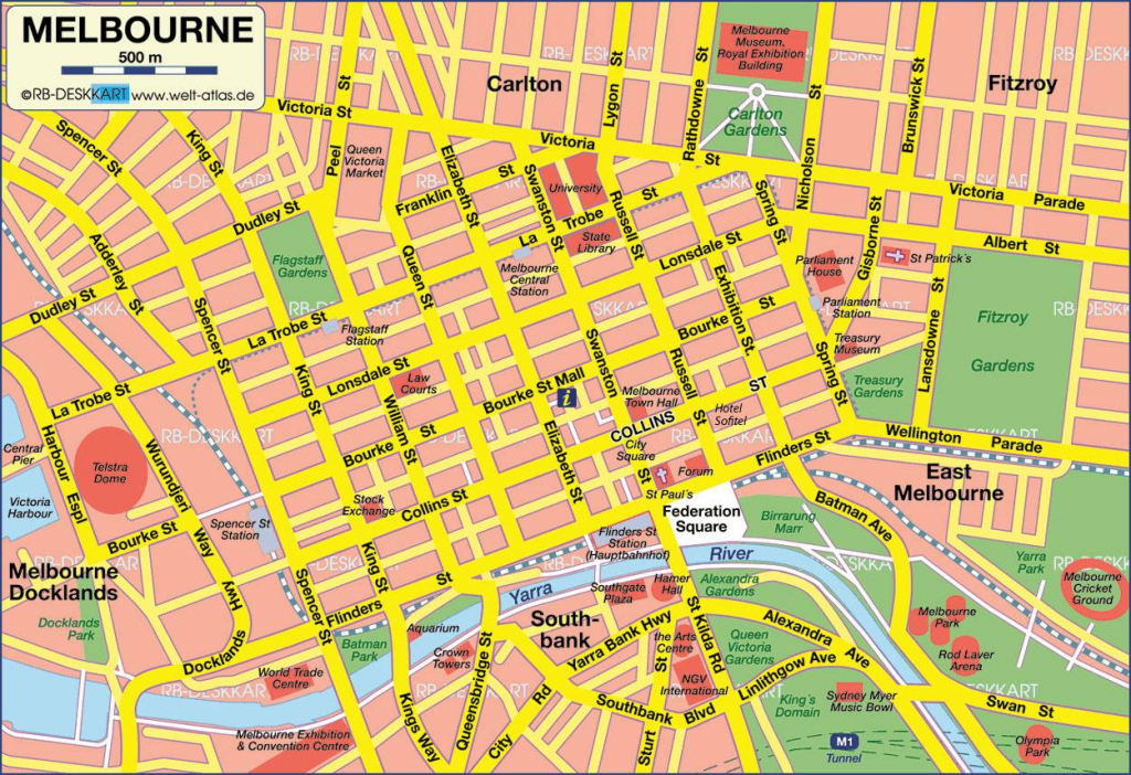 Large Melbourne Maps For Free Download And Print | High-Resolution in Printable Map Of Melbourne