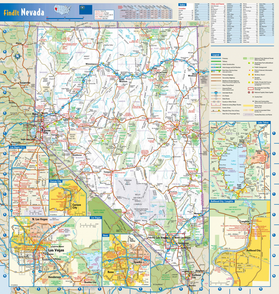 Large Nevada Maps For Free Download And Print   High-Resolution And regarding Printable Map Of Nevada
