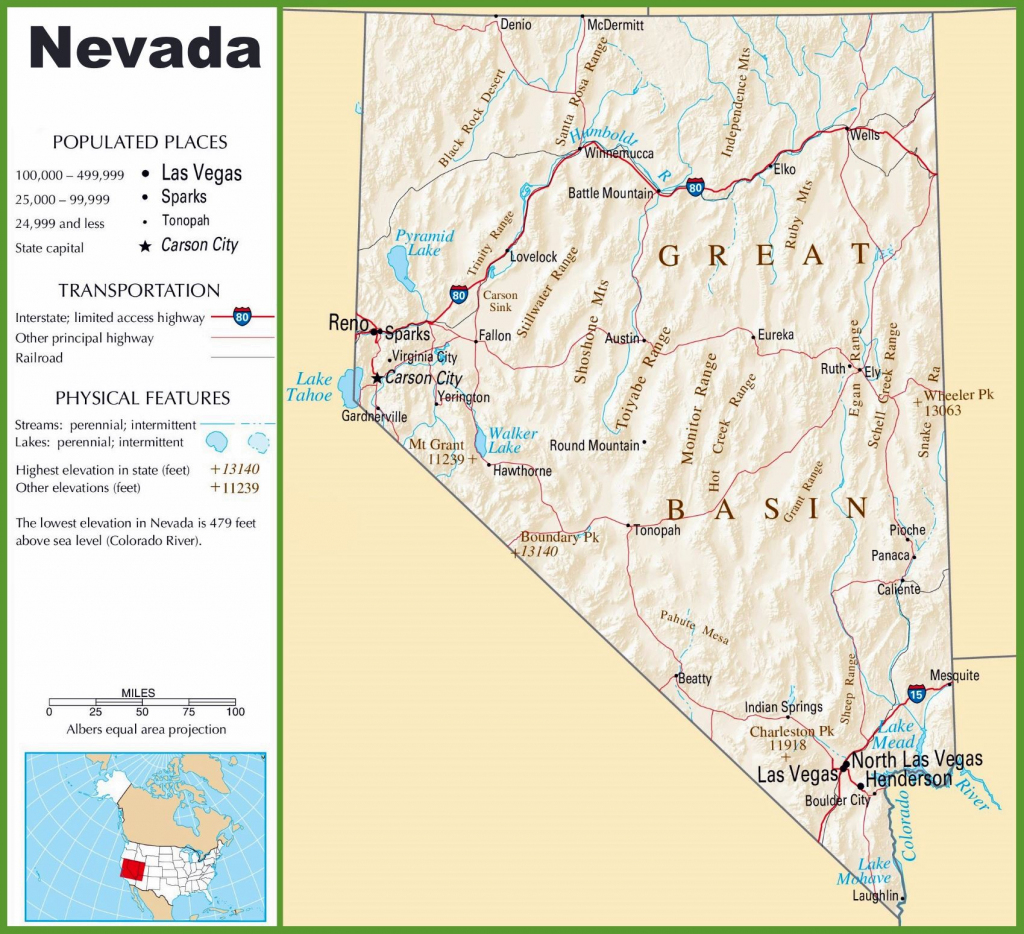 Large Nevada Maps For Free Download And Print | High-Resolution And with regard to Printable Map Of Nevada