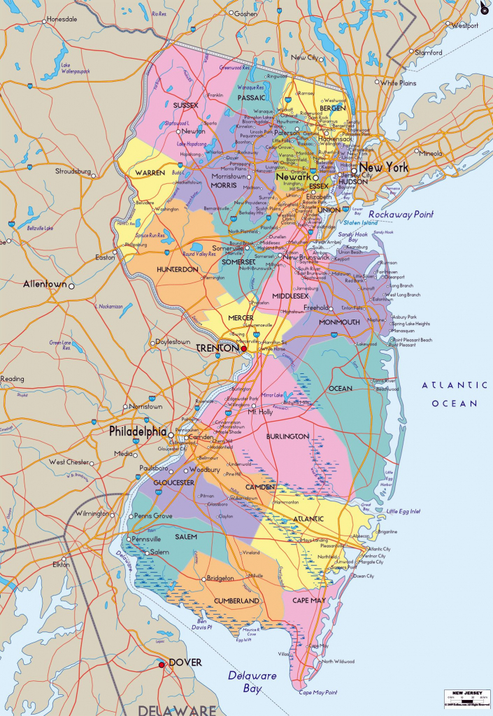 Large New Jersey State Maps For Free Download And Print | High inside Printable Map Of New Jersey