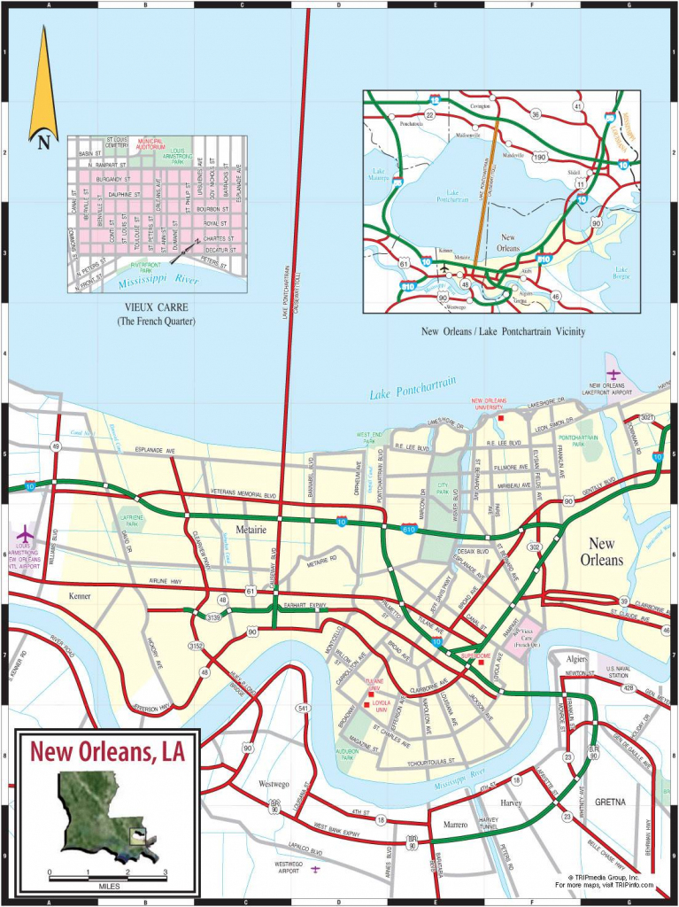 Large New Orleans Maps For Free Download And Print | High-Resolution in Printable Map Of New Orleans