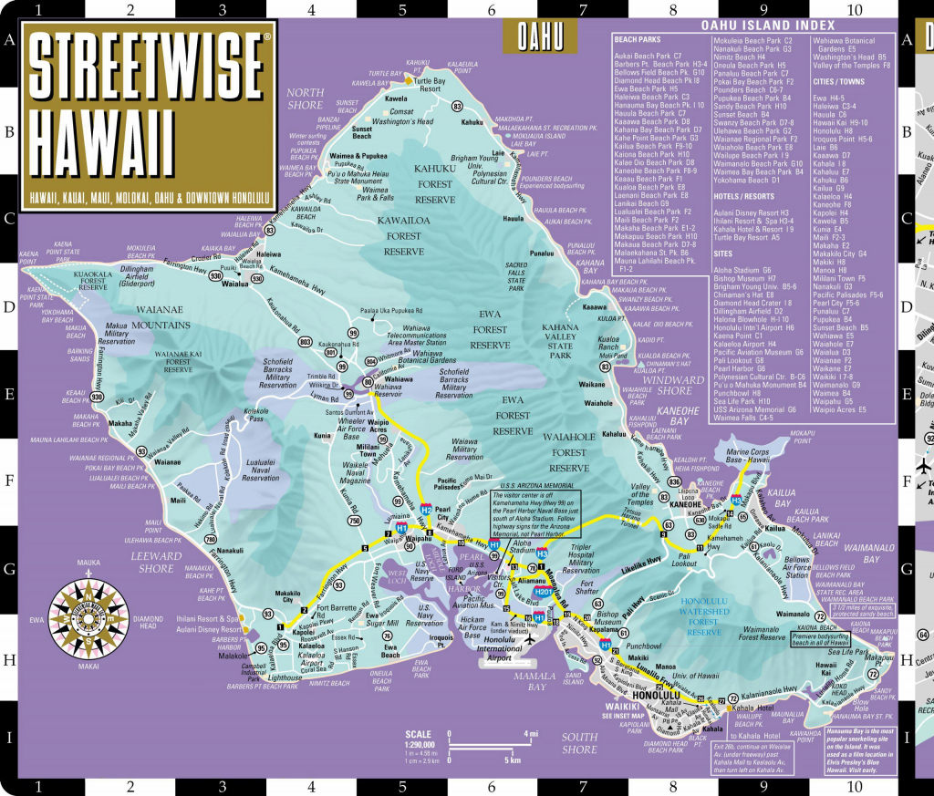 Large Oahu Island Maps For Free Download And Print | High-Resolution for Printable Map Of Hawaii