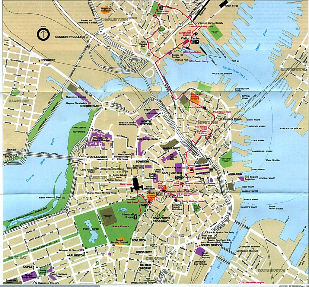 Large Printable Boston Maps | World Map Photos And Images regarding Printable Local Street Maps