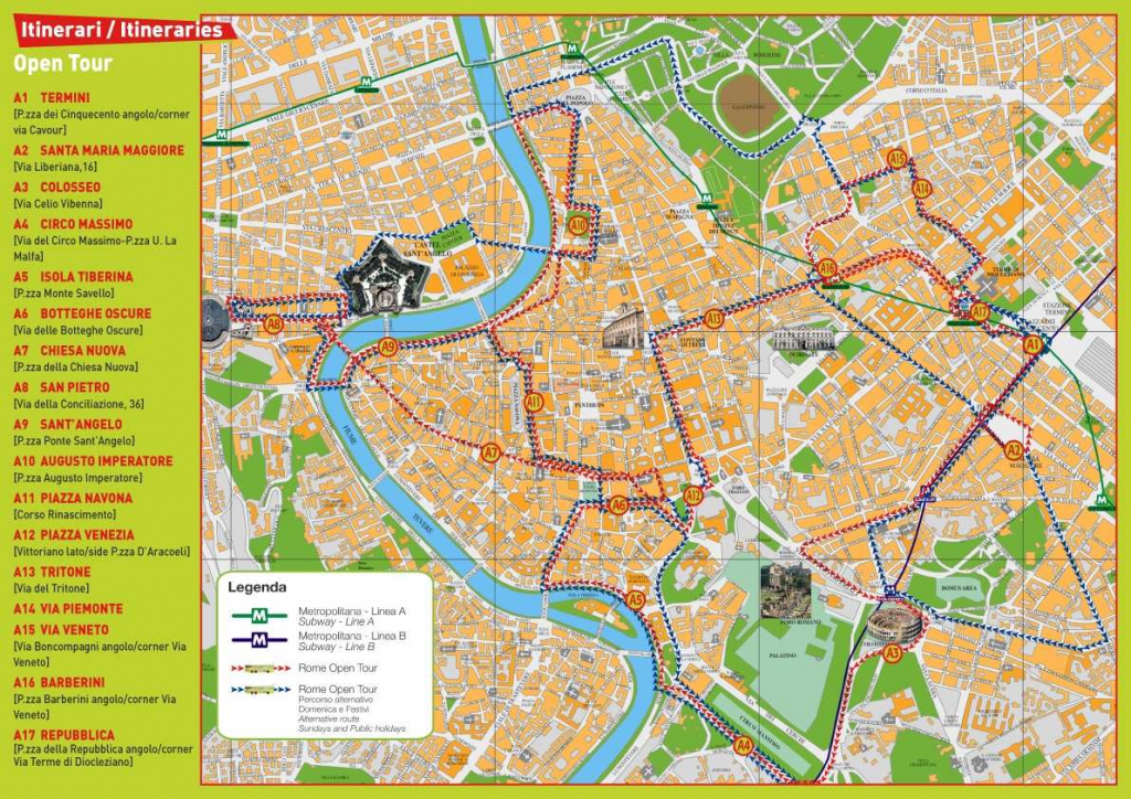 Large Rome Maps For Free Download And Print | High-Resolution And inside Printable Walking Map Of Rome