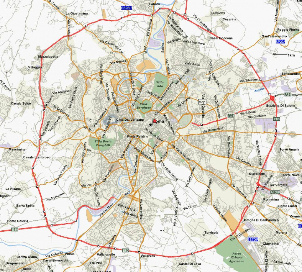 Large Rome Maps For Free Download And Print | High-Resolution And intended for Printable Walking Map Of Rome