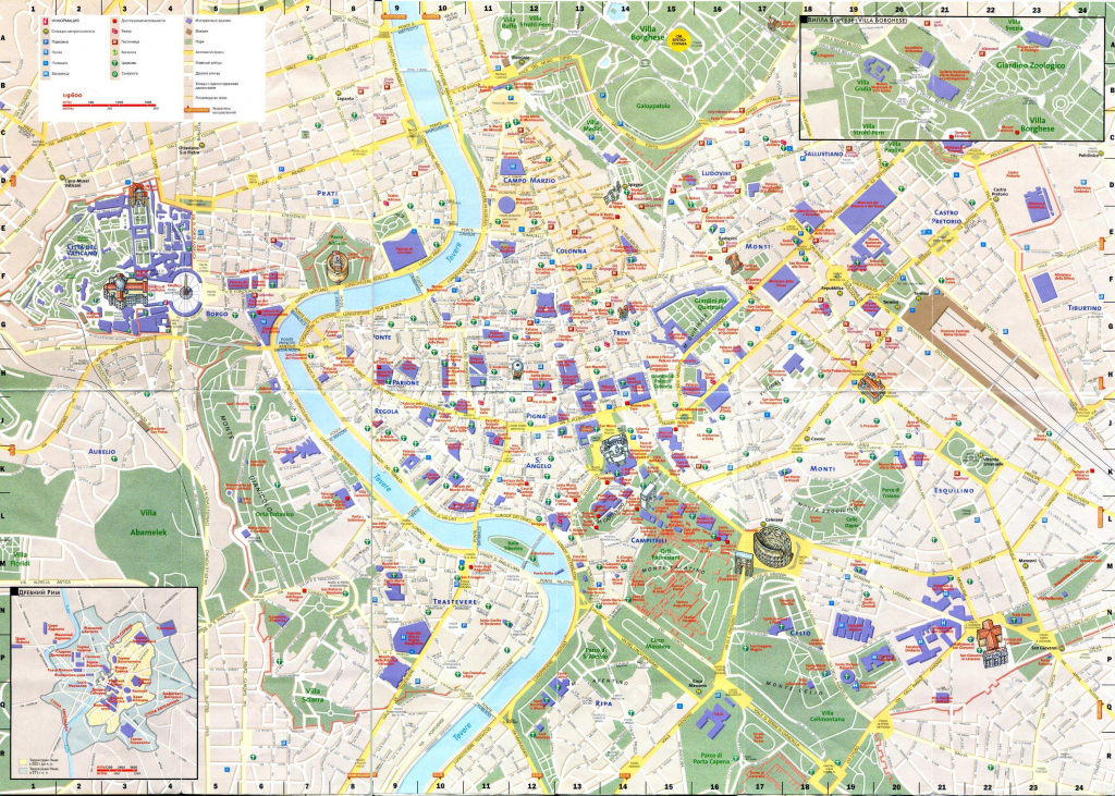 Large Rome Maps For Free Download And Print   High-Resolution And pertaining to Street Map Of Rome Printable
