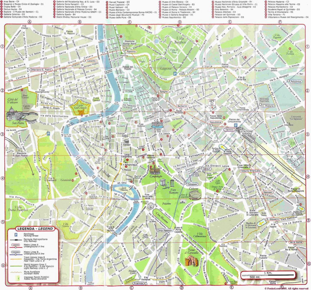 Large Rome Maps For Free Download And Print | High-Resolution And with Printable Map Of Rome City Centre