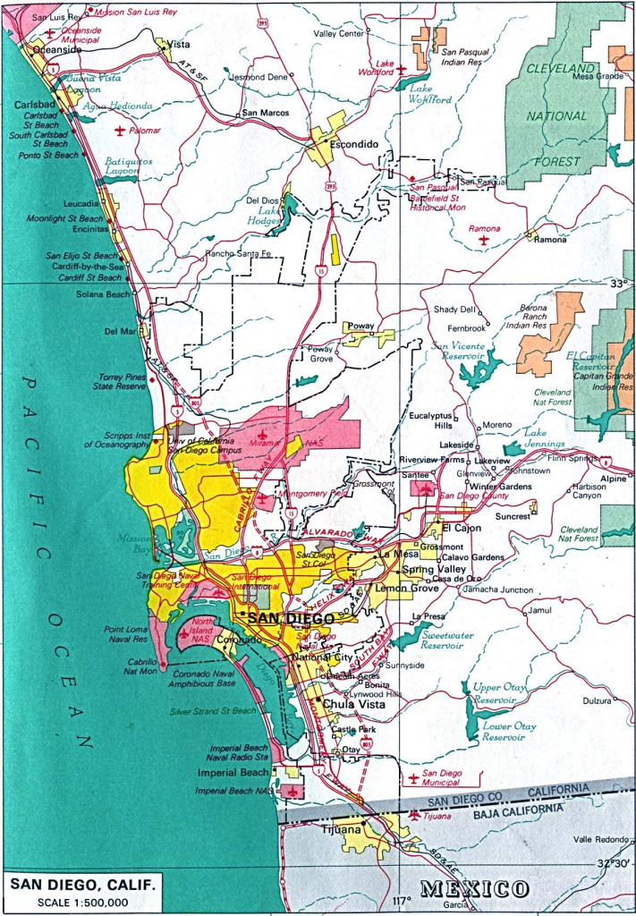 Large San Diego Maps For Free Download And Print | High-Resolution intended for Printable Map Of San Diego County
