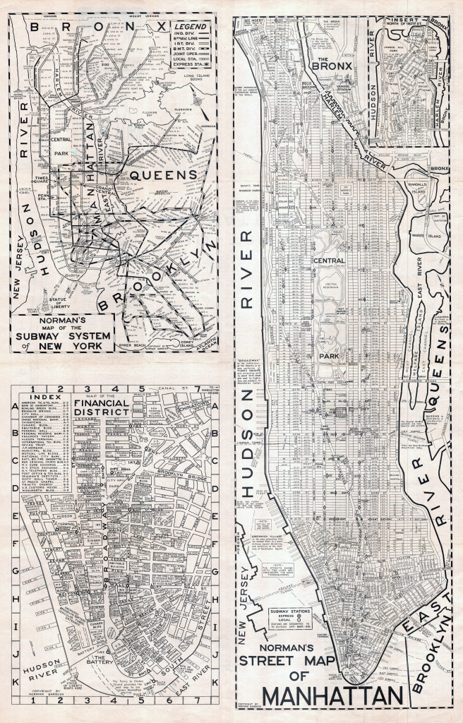 Large Scaled Printable Old Street Map Of Manhattan, New York City within Printable New York Street Map