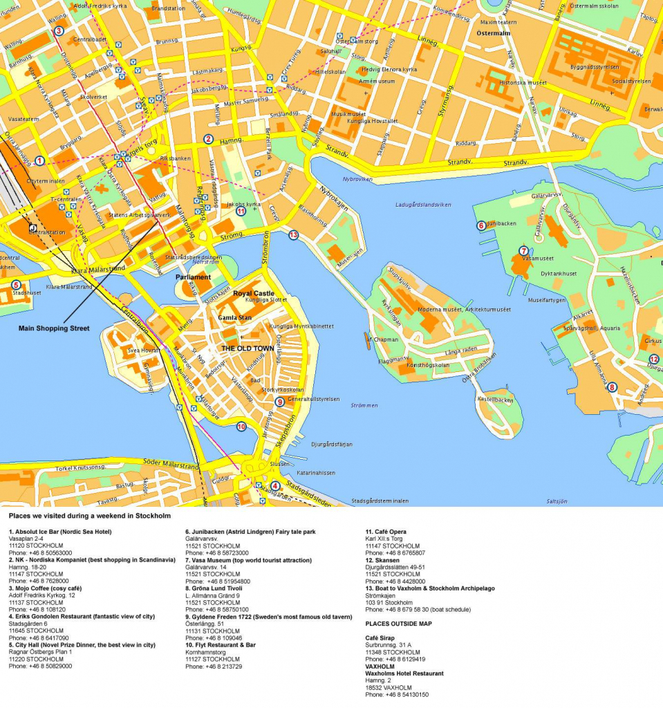 Large Stockholm Maps For Free Download And Print | High-Resolution throughout Stockholm Tourist Map Printable
