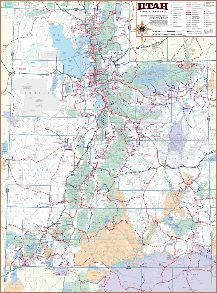 Large Utah Maps For Free Download And Print   High-Resolution And inside Printable Map Of Utah