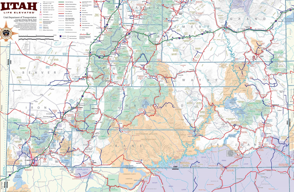 Large Utah Maps For Free Download And Print   High-Resolution And with Printable Map Of Utah