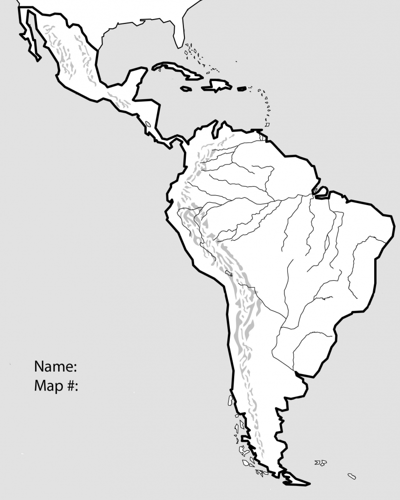 Latin America Blank Map   Ageorgio pertaining to Blank Map Of Central And South America Printable
