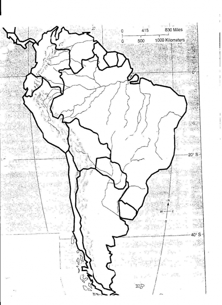 Latin America Physical Feature Map Sample Pdf Us Features Quiz Game with South America Physical Map Printable