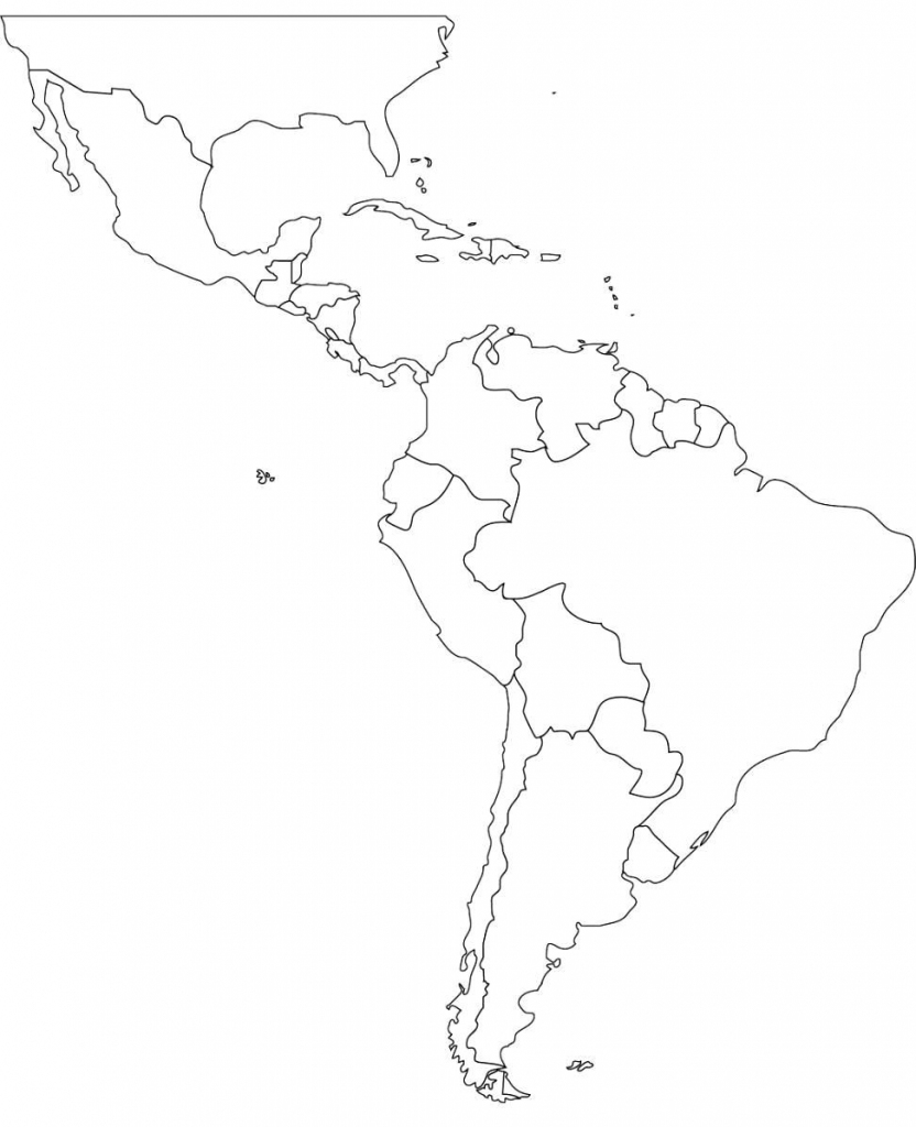 Latin America Printable Blank Map South Brazil At New Of   Jdj pertaining to Blank Map Of Central And South America Printable