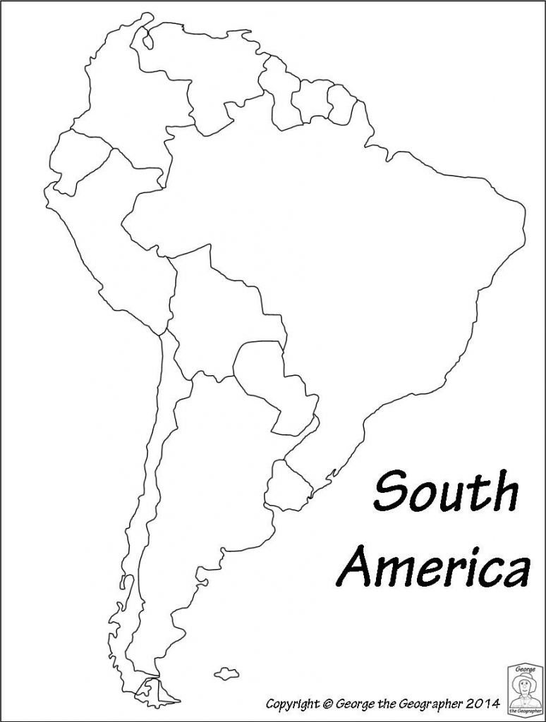 Latin America Printable Blank Map South Brazil Maps Of Within And intended for Blank Map Of The Americas Printable