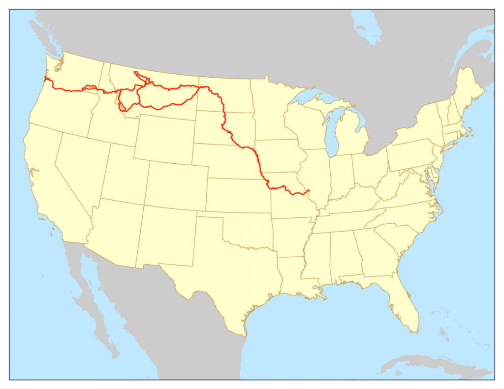 Lewis And Clark National Historic Trail - Wikipedia in Lewis And Clark Trail Map Printable