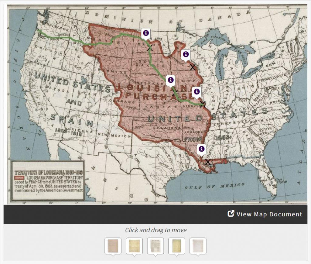 Lewis & Clark's Expedition To The Complex West | Docsteach throughout Lewis And Clark Expedition Map Printable