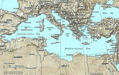 Printable Map Of The Mediterranean Sea Area