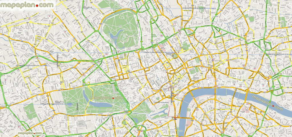 London Maps - Top Tourist Attractions - Free, Printable City Street regarding Printable Map Of London