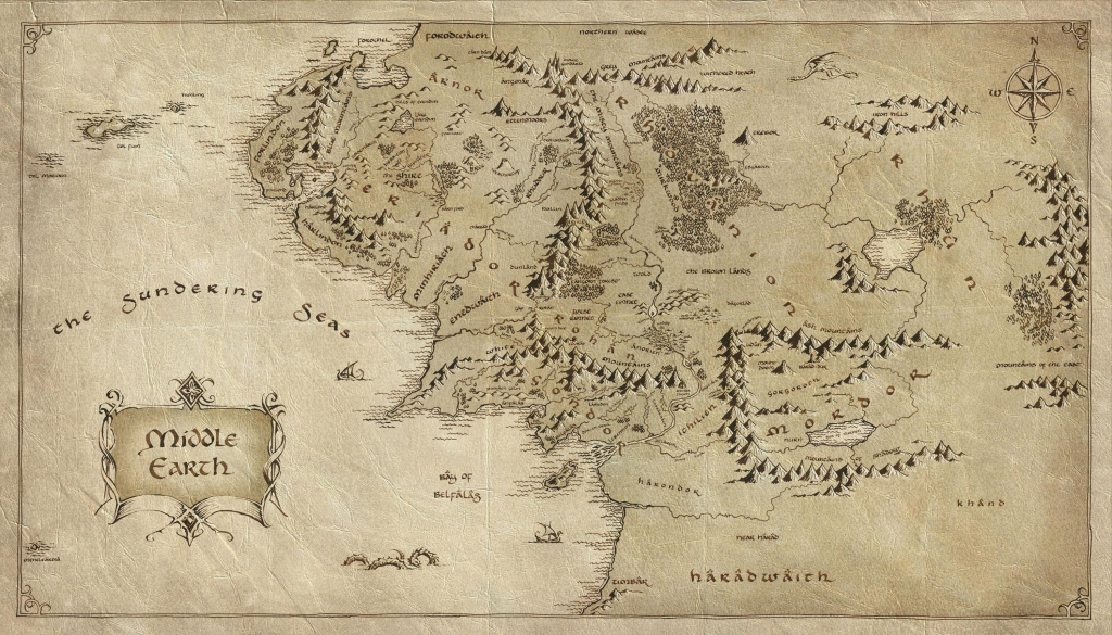 Lord Of The Rings Map | Tattoos | The Hobbit Map, Middle Earth Map regarding Printable Lord Of The Rings Map