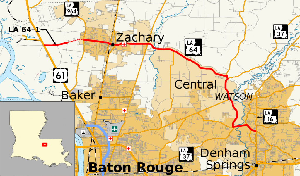 Louisiana Highway 64 - Wikipedia regarding Printable Map Of Baton Rouge