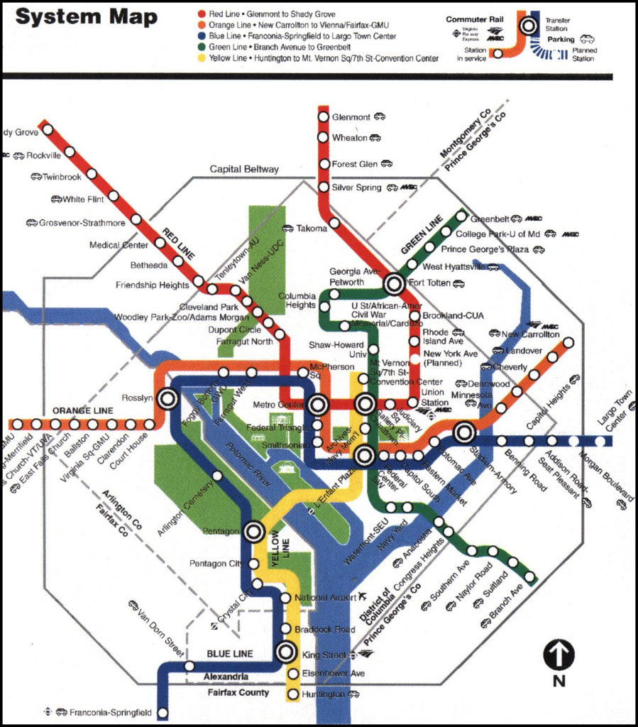 Luv The Metro! Seriously One Of The Easiest Places To Get Around for Printable Washington Dc Metro Map