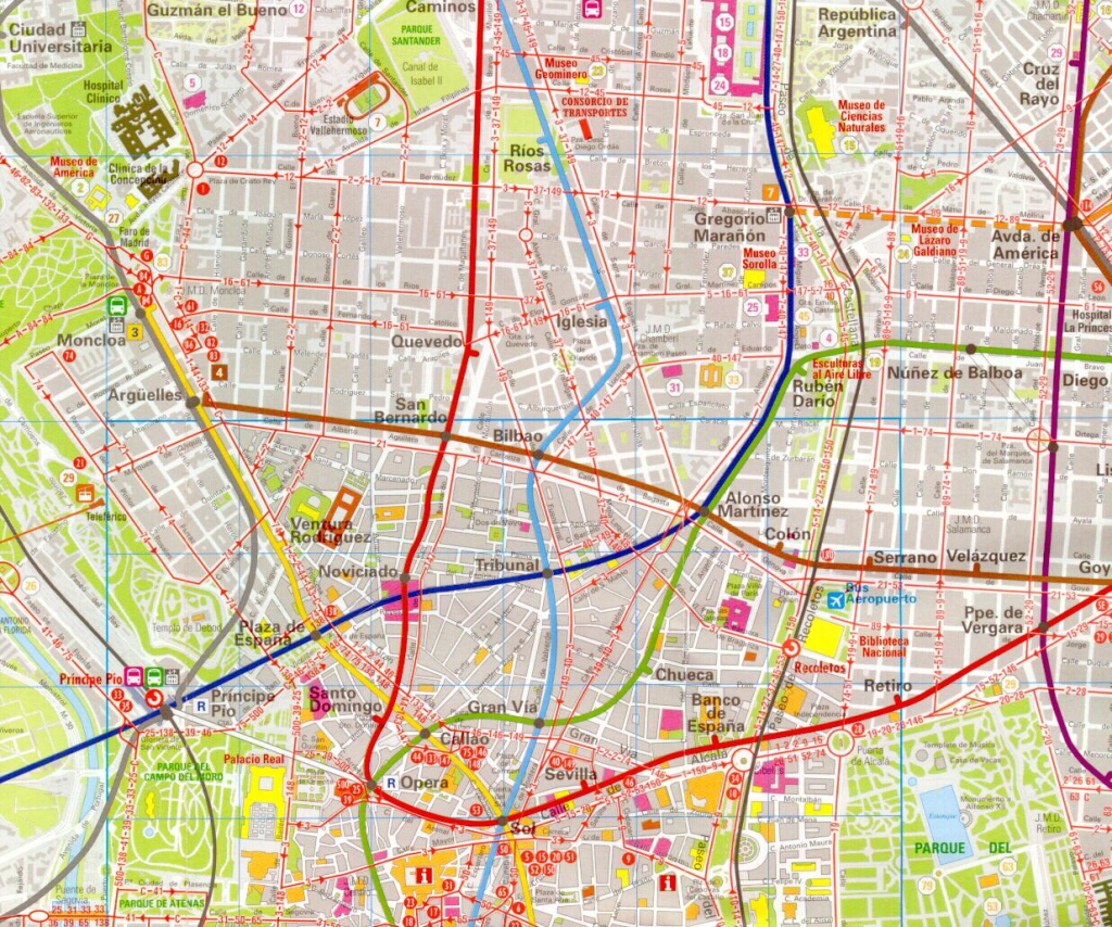 Madrid Map - Detailed City And Metro Maps Of Madrid For Download pertaining to Printable Map Of Madrid