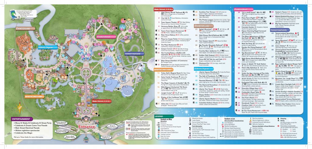 Magic Kingdom Disney World Map - World Wide Maps pertaining to Disney World Map 2017 Printable