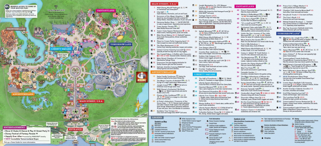 Magic Kingdom Park Map | Disney In 2019 | Disney World Map, Disney intended for Printable Epcot Map