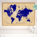 Make A Diy Travel Push Pin Map For Marking Your Travels Using One Of Within Make A Printable Map