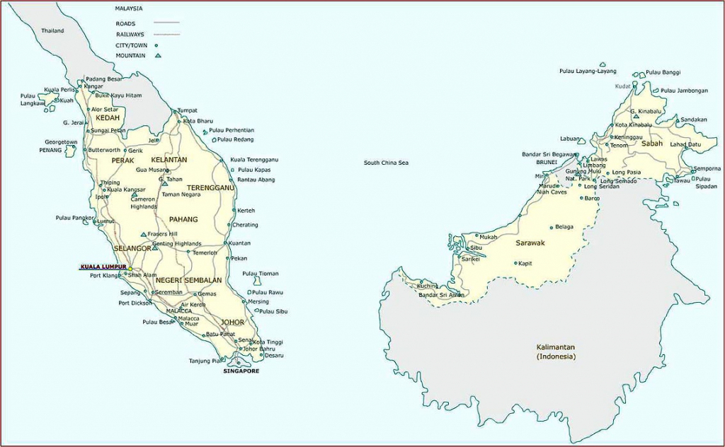 Malaysia Maps | Printable Maps Of Malaysia For Download regarding Printable Map Of Malaysia