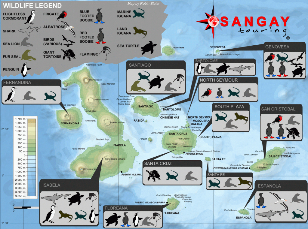 Map Galapagos Islands - Free Printable Maps pertaining to Printable Map Of Galapagos Islands