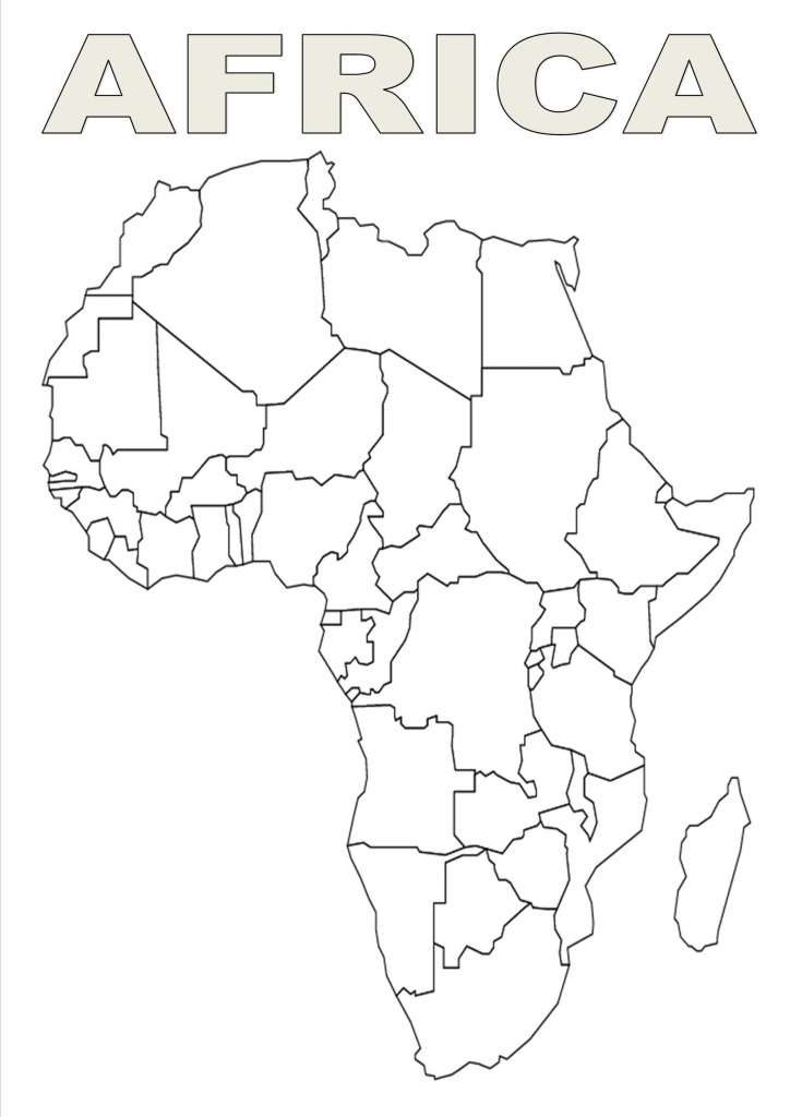 Map Of Africa Template | Silhouettes | Africa Map, Africa Outline throughout Printable Blank Map Of Africa