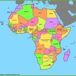 Map Of Africa With Countries And Capitals Regarding Free Printable Map Of Africa With Countries
