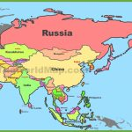Map Of Asia With Countries And Capitals With Regard To Printable Map Of Asia With Countries