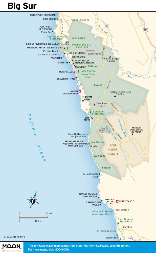 Map Of California Coastline Cities Printable Maps Us East Coast Road intended for Printable Road Trip Maps