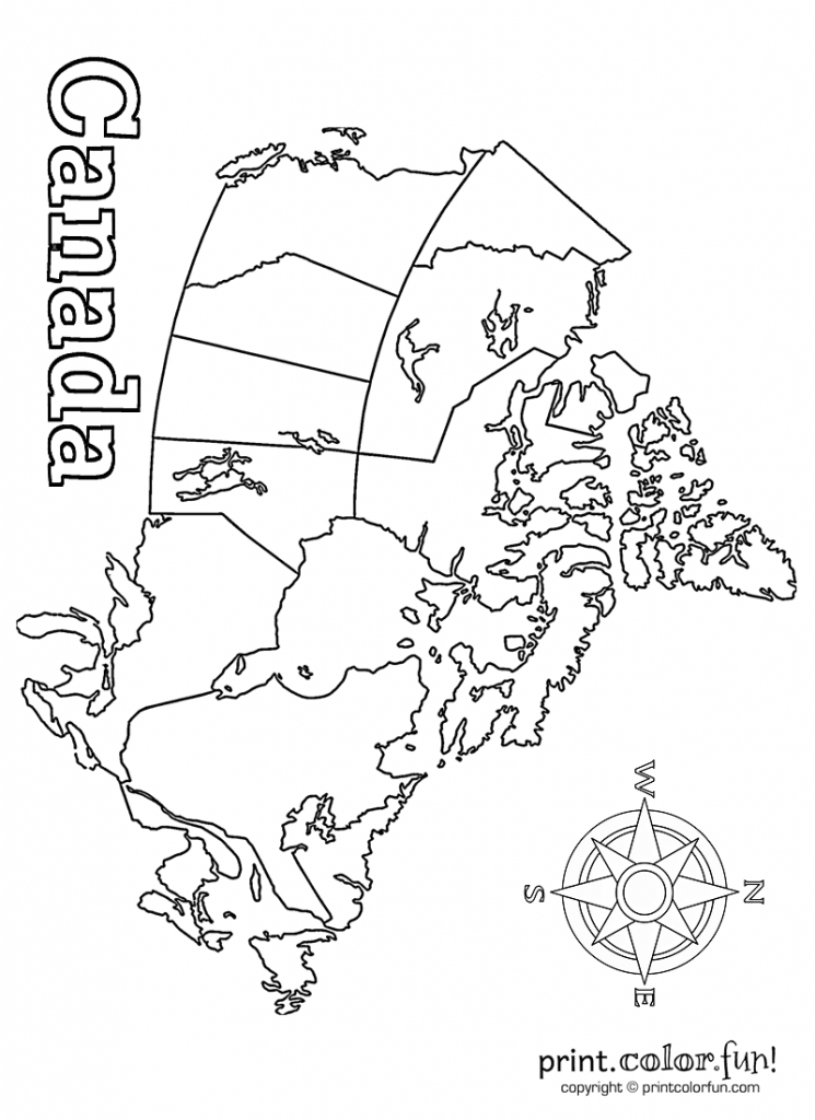 Map Of Canada | Print. Color. Fun! Free Printables, Coloring Pages pertaining to Free Printable Map Of Canada For Kids