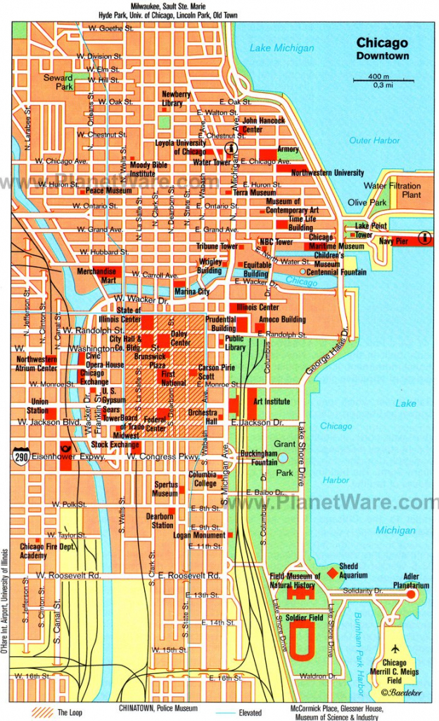 Map Of Chicago Attractions | Park Ideas for Map Of Chicago Attractions Printable