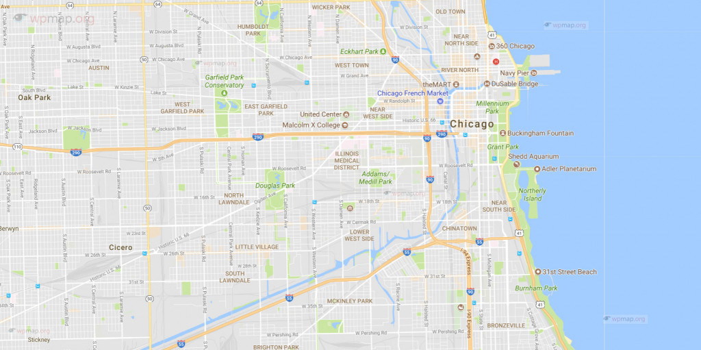 Map Of Chicago - Printable Map Of Chicago - Chicago Map Usa throughout Printable Map Of Chicago