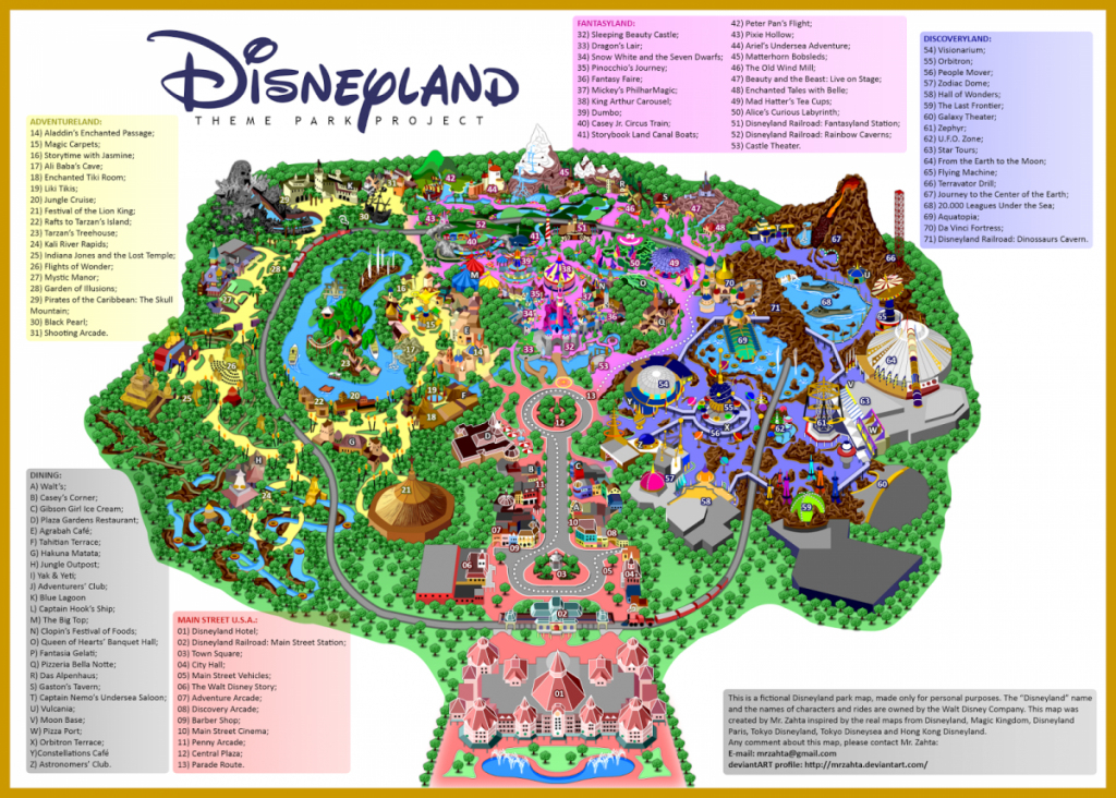 Map Of Disneyland California Road Map Printable Map Of Disneyland regarding Printable Map Of Disneyland And California Adventure