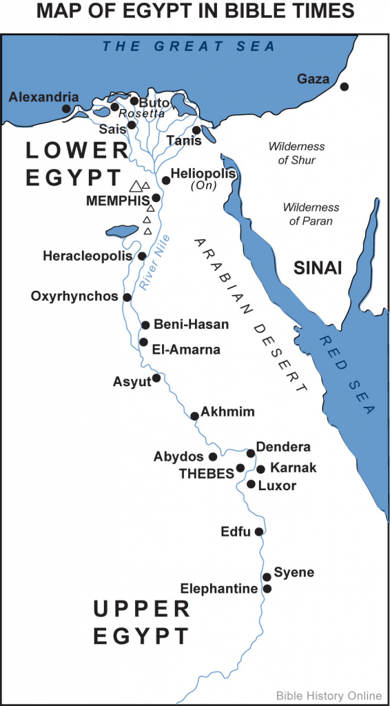Map Of Egypt In Bible Times (Bible History Online) regarding Printable Bible Maps For Kids